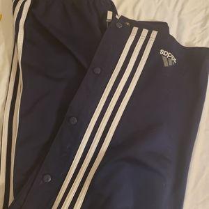 Adidas sz. Large navy blue basketball pants